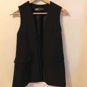 NEW Black blazer without sleeves tag removed
